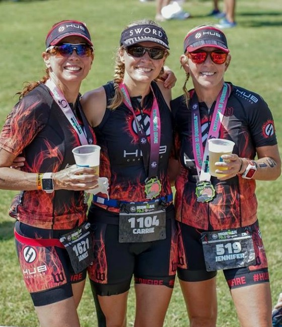 Women of hub team group photo after IRONMAN competition.